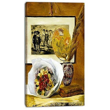 Design Art – Pierre-Auguste Renoir, Still Life with Bouquet, impression sur toile