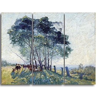 Designart Elioth Gruner, The Wattles Canvas Art Print, (PT4355-3P)
