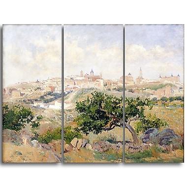 Designart – Aureliano de Beruete, vue de Toledo, œuvre d'art d'un paysage (PT4168-3P)