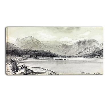 Designart Edward Lear, Crummock Water Landscape Canvas Art Print, (PT4336-40-20)