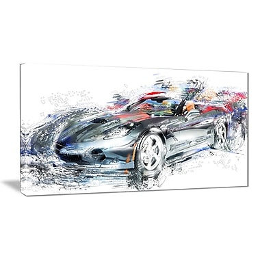 Designart High End Luxury Car Canvas Art Print, (PT2649-32-16)