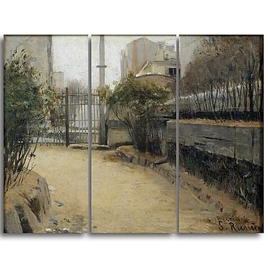 Designart Santiago Rusinol, Garden of Montmartre Canvas Art Print, (PT4921-3P)