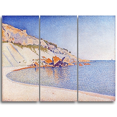 Designart Paul Sandby, Cassis, Cap Lombard Large Sea & Shore Canvas Art, (PT4814-3P)