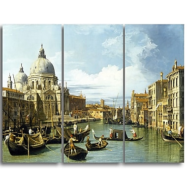 Designart Canaletto, The Entrance to the Grand Canal Canvas Art Print, (PT4203-3P)