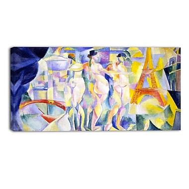 Designart Robert Delaunay, La Ville de Paris Canvas Art Print, (PT4898-40-20)