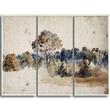 Designart Anthony van Dyck, LandmarkMaster Piece Landscape Artwork, (PT4141-3P)