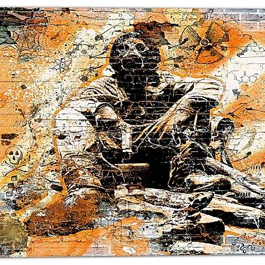 Designart – Art de rue sur toile, comportement orange risqué (PT3633-3-30-30)