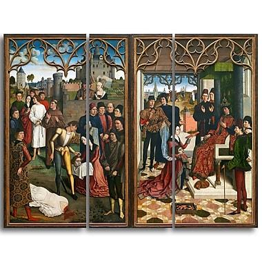 Designart – Imprimé sur toile, La Justice de l'empereur Otton III de Dirk Bouts (PT4300-3P)