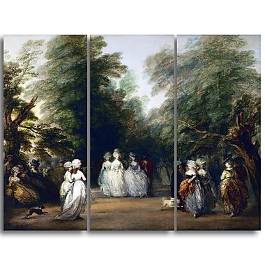 Designart – Imprimé sur toile, Centre commercial à St. James Park, Thomas Gainsborough (PT4954-3P)