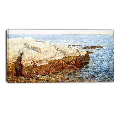 Designart – Childe Hassam, Cliff Rock, Appledore, toile d'illustration de paysage (PT4485-32-16)