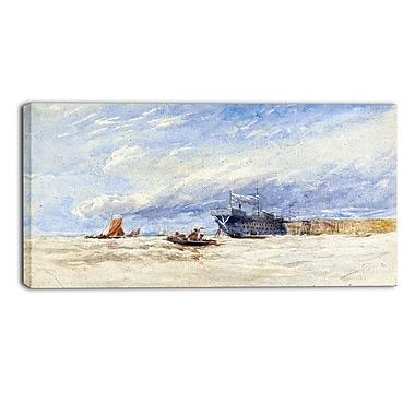 Designart David Cox, On the Medway Canvas Art Print, (PT4285-40-20)