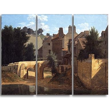Designart Jean-Victor Bertin, View in the Ile-de-France Canvas Art Print, (PT4590-3P)