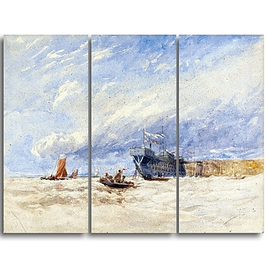 Designart David Cox, On the Medway Canvas Art Print, (PT4285-3P)