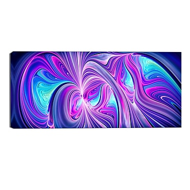 Designart Purple and Blue Wonder Contemporary Canvas Art Print, (PT3070-32-16)