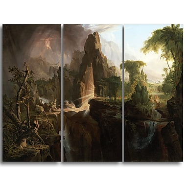 Designart Thomas Cole, Expulsion from the Garden of Eden Canvas Art Print, (PT4940-3P)