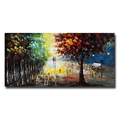 Designart Landscape Forest Colours of Nature Canvas Art Print, (PT3507-40-20)