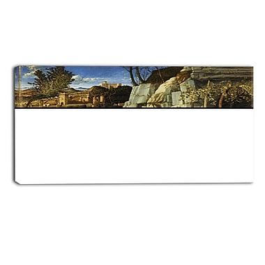 Designart Giovanni Bellini, Saint Francis in the Desert Landscape Wall Art, (PT4448-40-20)