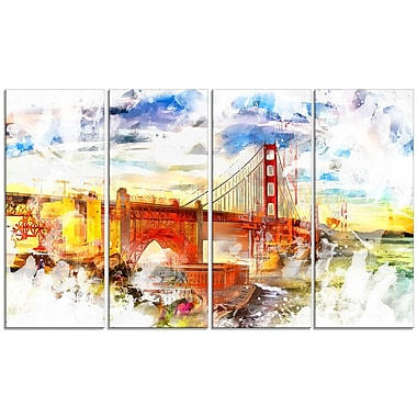 Designart Colourful San Francisco Canvas Art, (PT2814-271)