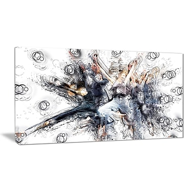Designart Contemporary Jazz Dance Canvas Art Print, (PT2567-32-16)