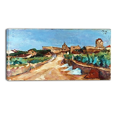 Designart Anton Faistauer, Street Towards Durnstein Master Piece Landscape Artwork, (PT4147-32-16)