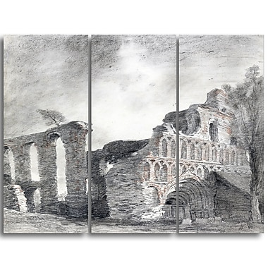 Designart John Constable,Ruin of St. Botolphs Priory Canvas Art Print, (PT4634-3P)