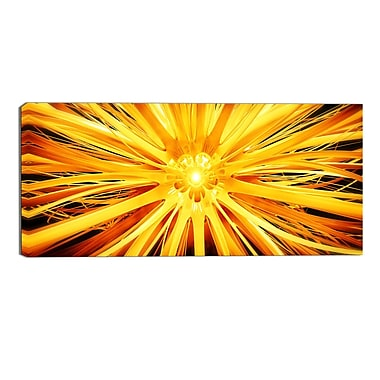 Designart Sunshiney Day Modern Canvas Art Print, (PT3082-32-16)