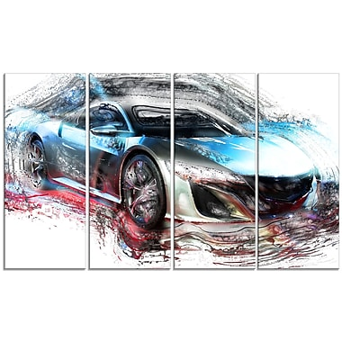 Designart Exotic SuperCar Large Gallery Wrapped Canvas, (PT2624-271)