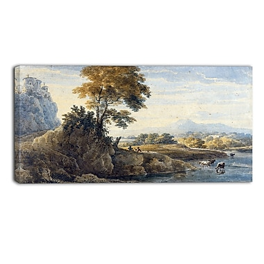 Designart Thomas Girtin, Romantic Landscape Canvas Art Print, (PT4962-40-20)