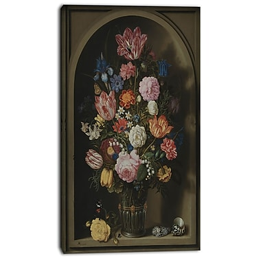 Design Art Ambrosius Bosscha, Bouquet of Flowers, impression sur toile