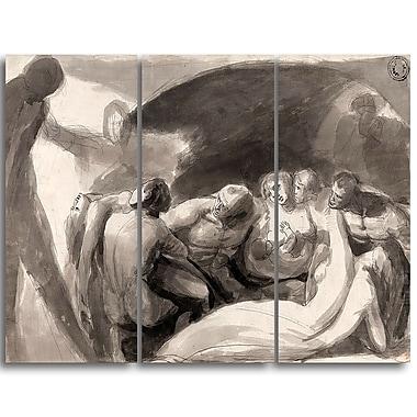 Designart George Romney, Howard Visiting a Prison Canvas Art Print, (PT4420-3P)