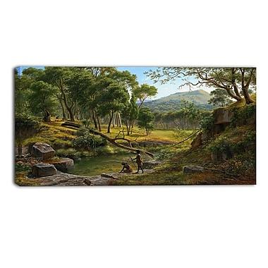 Designart Eugene von Guerard, Warrenheip Hills Near Ballarat Landscape Canvas Art Print, (PT4370-40-20)