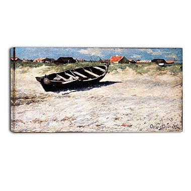Designart Oscar Bjorck, Boat at Skagens South Beach Canvas Art Print, (PT4759-32-16)