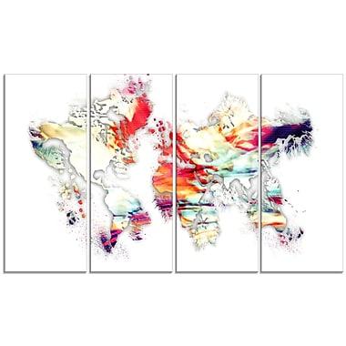 Designart – Imprimé sur toile, carte du monde colorée (PT2730-271)