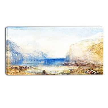 Designart JMW Turner, Fluelen Morning Sea & Shore Canvas Art Print, (PT4608-40-20)