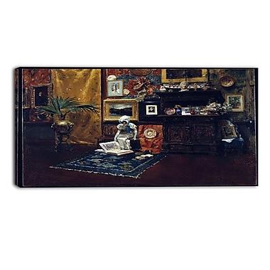 Design Art — William Merritt, Studio Interior, impression sur toile