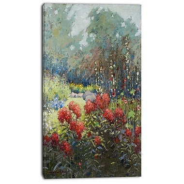 Designart Mary Hiester Reid, A Garden in September Canvas Art Print, 3 Panels, (PT4720-20-40)