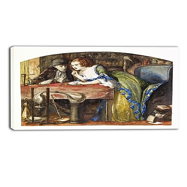 Designart Dante G. Rossetti, The Laboratory Canvas Art Print, (PT4277-32-16)