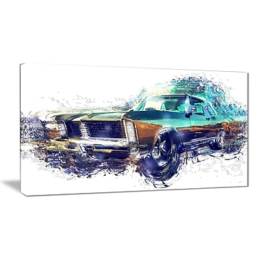 Designart Pure American Muscle Small Gallery Wrapped Canvas, (PT2616-32x16)