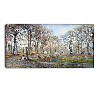 Designart Theodor Philipsen, Autumn in the Deer Park Canvas Art Print, (PT4933-40-20)