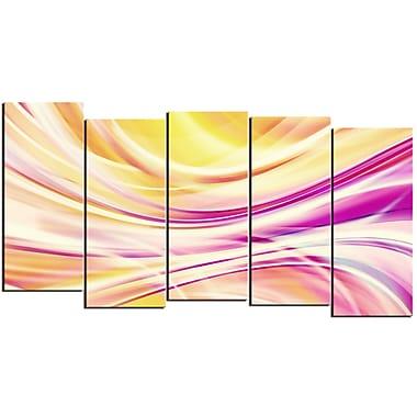 Designart – Art contemporain sur toile, rubans couleur bonbon, 5 panneaux
