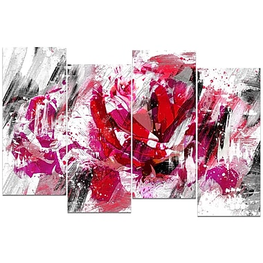Designart Red Rose Canvas Art Print, (PT3413-271)