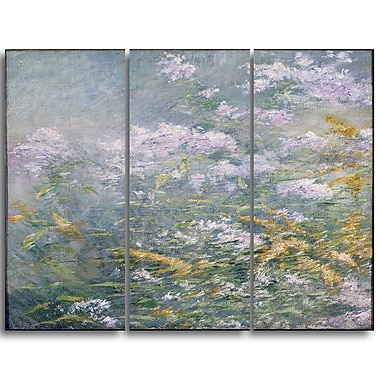 Designart John Henry Twatchman, Meadow Flowers Canvas Art Print, 3 Panels, (PT4647-3P)