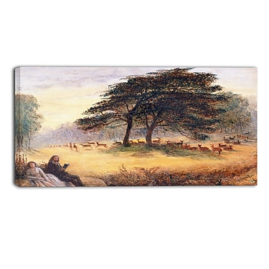 Designart James Smetham, Lovers in Richmond Park Canvas Art Print, (PT4543-40-20)