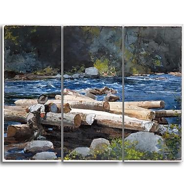 Designart – Toile imprimée, La rivière Hudson, Winslow Homer (PT5019-3P)