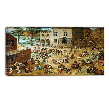 Designart Pieter Bruegel, Children's Games Canvas Art Print, (PT4863-32-16)