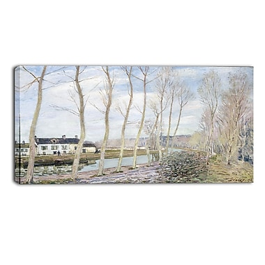 Designart Alfred Sisley, The Loings Canal Master Piece Landscape Artwork, (PT4129-40-20)