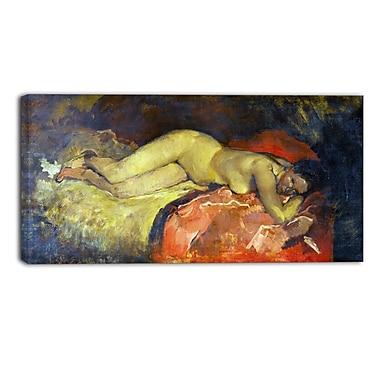 Designart George Hendrik, Reclining Nude Canvas Art Print, (PT4415-40-20)