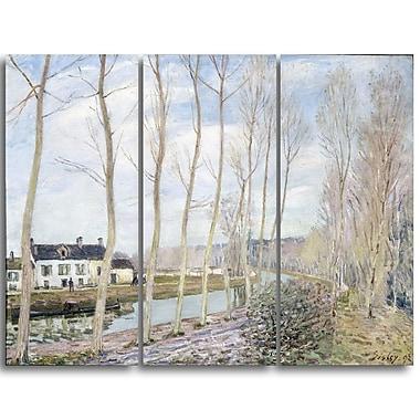 Designart – Alfred Sisley, le Canal de Loing, œuvre d'art d'un paysage (PT4129-3P)