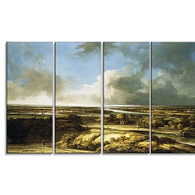Designart Philips Koninck, A Panoramic Landscape Canvas Art Print, (PT4846-271)
