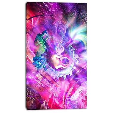 Designart Whimisical Womb Street Art Canvas Artwork, (PT3601-16-32)